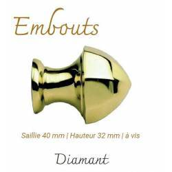 Embout Diamant Saillie 40...