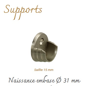 Supports Naissance Nickel Mat embase Ø 31 m