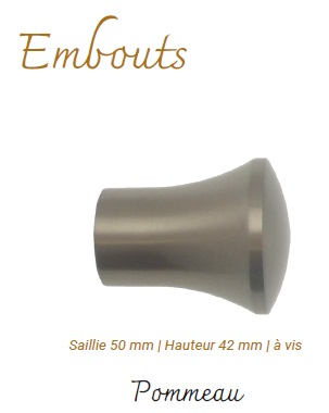 Embout Nickel Mat Pommeau
