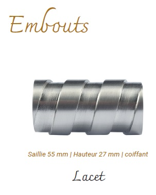 embout Lacets Nickel Mat