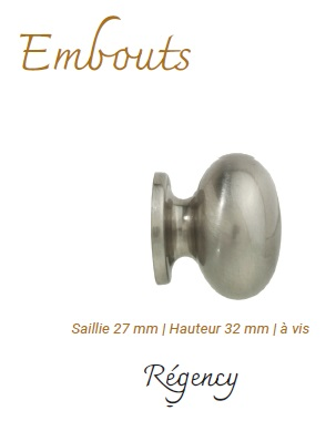 embout Regency Nickel Mat